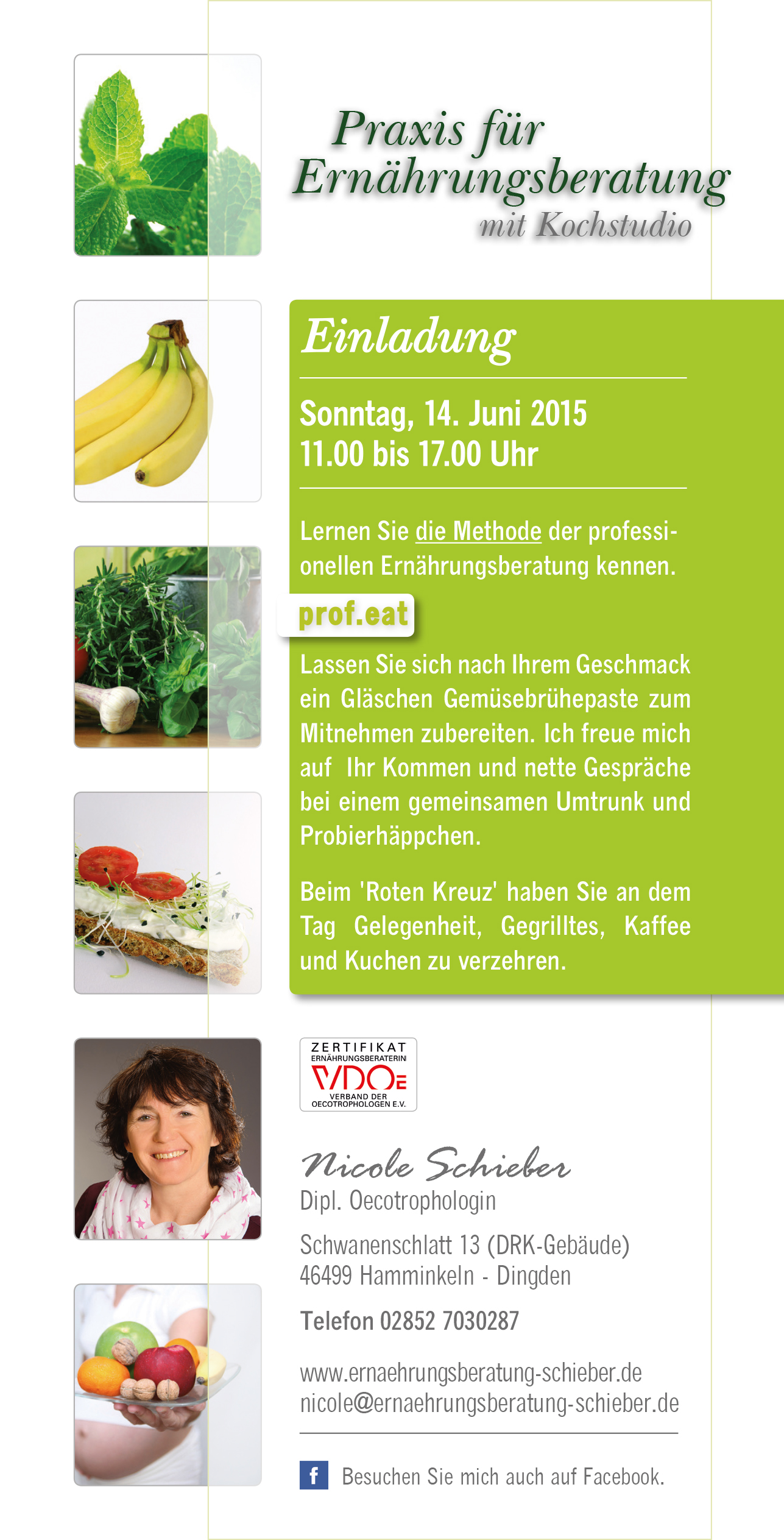 Einladung am 14. Juni 2015 - Ernährungsberatung Schieber