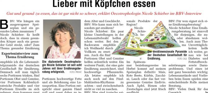 """Artikel """"Frisch vom Land"""" 04.09.2014"""
